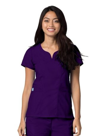 Curved Pocket Glamour Top Universal Purple