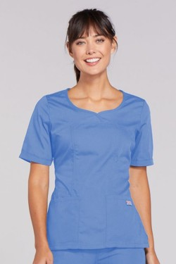 Cherokee Ceil Blue - V-Neck Top