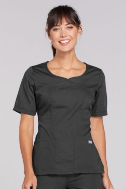 Cherokee Pewter - V-Neck Top