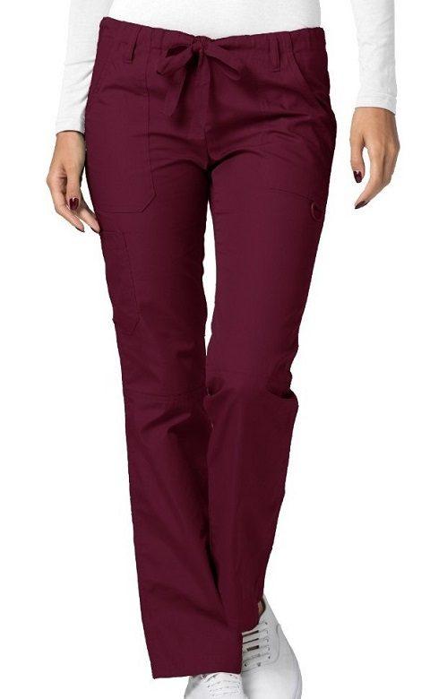 Low-Rise Drawstring Pants Burgundy Universal