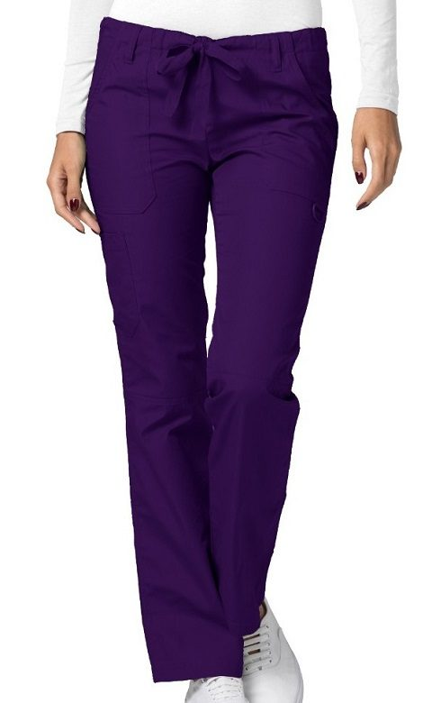 Low-Rise Drawstring Pants Purple Universal
