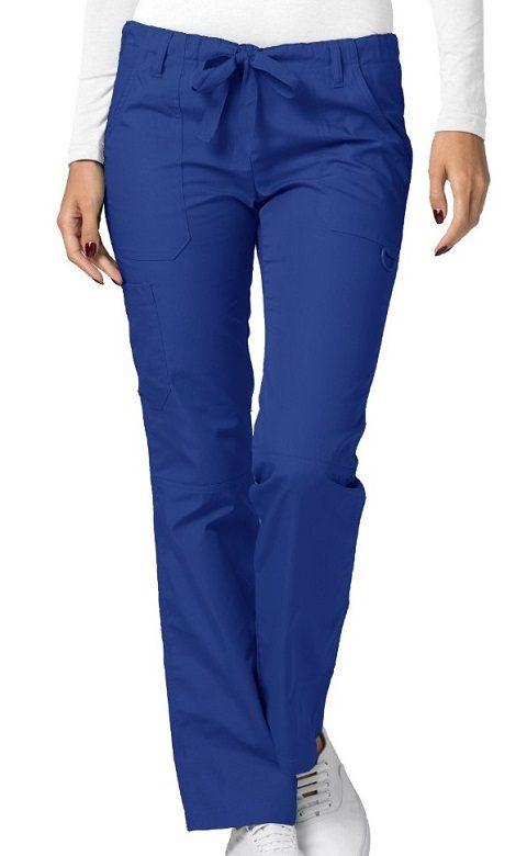 Low-Rise Drawstring Pants Royal Blue Universal