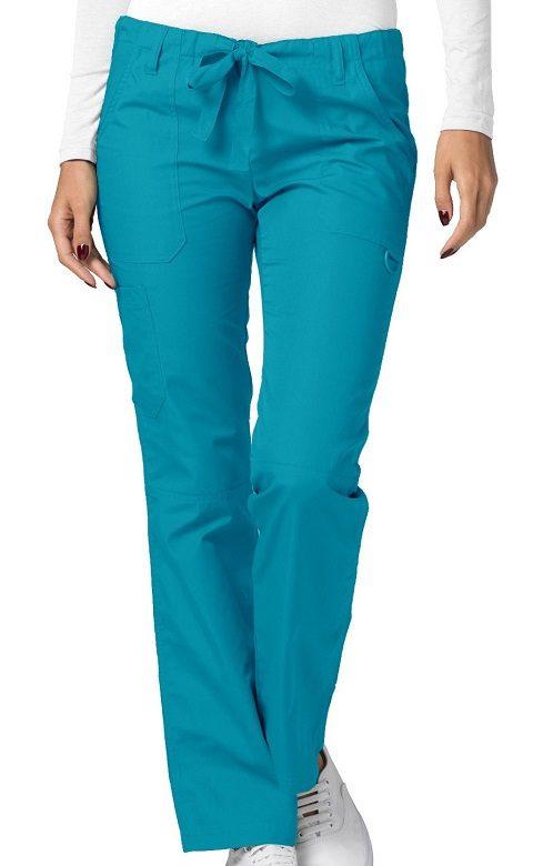 Low-Rise Drawstring Pants Teal Blue Universal